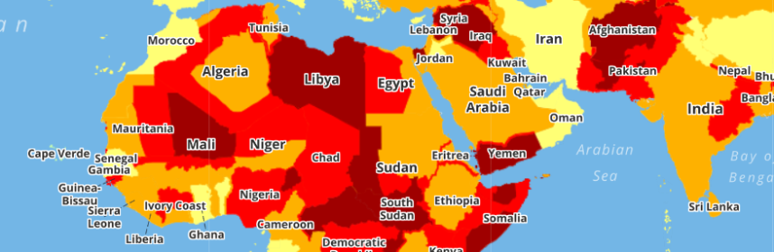 Worlds most dangerous countries a travel map helpprotect worlds most dangerous countries a travel map gumiabroncs Images